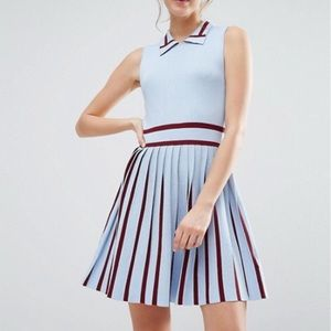 English Factory Knitted Dress with pleated skirt